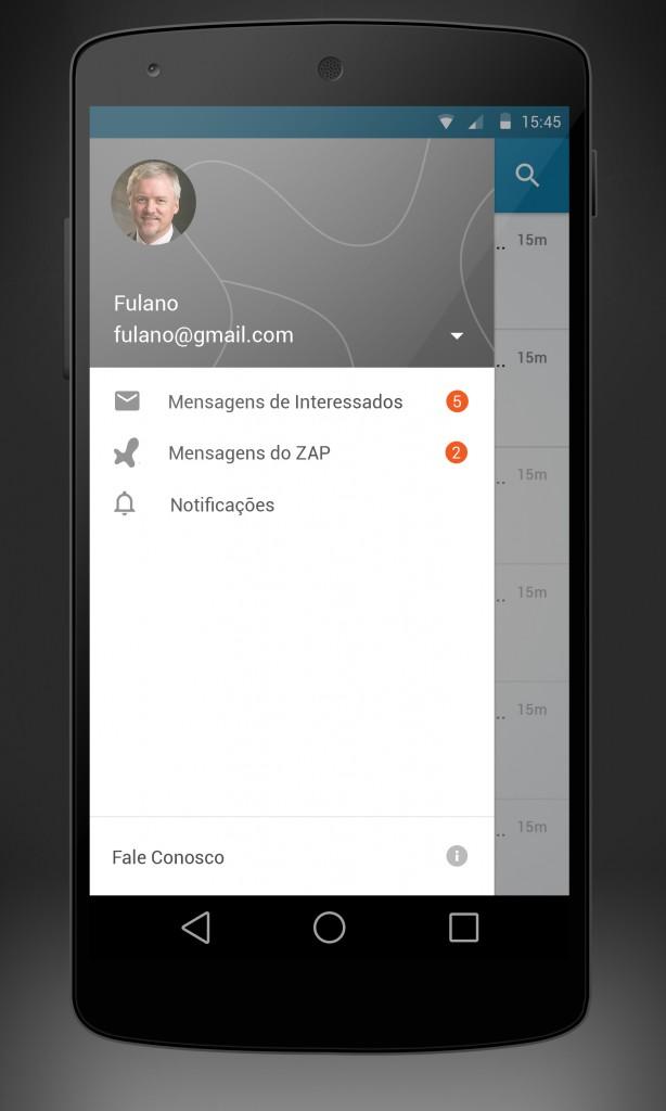 ZAP---app-corretor---android---SIDEBAR