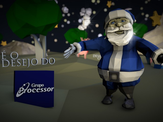 3D Low Poly Christmas Video Ad – Processor