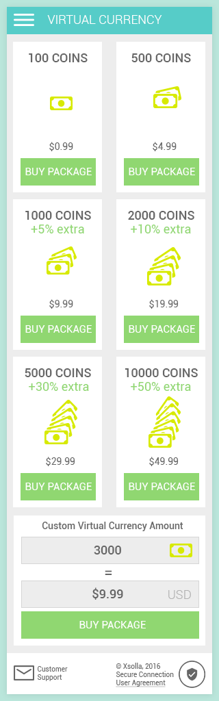320 grid - virtual currency