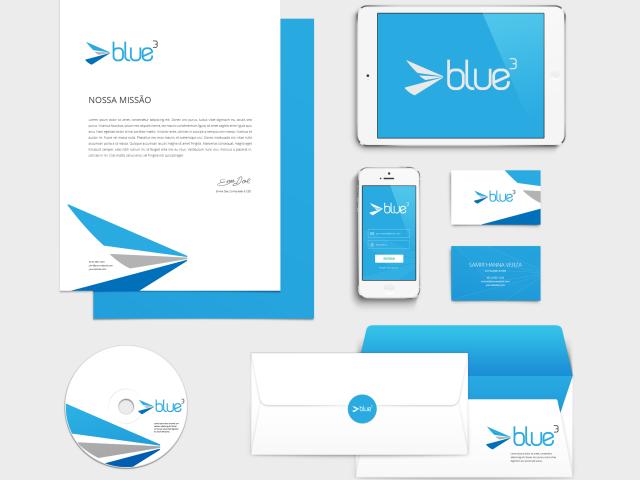 Blue3 Logo Design