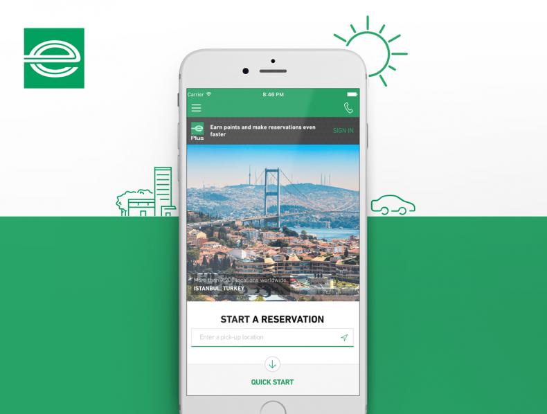 Enterprise Rent-A-Car App – UI UX Design