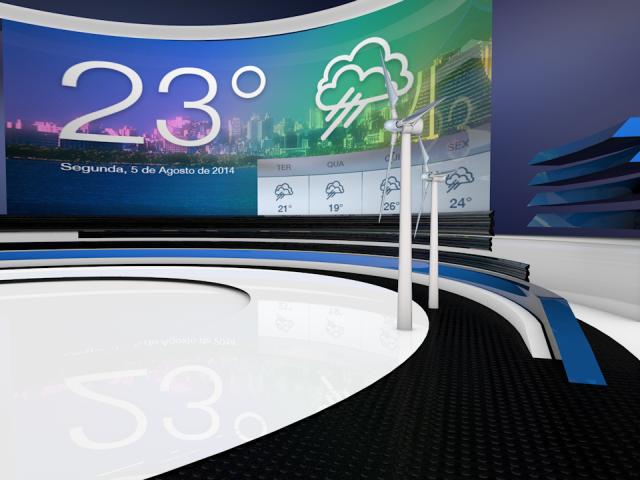 Weather News – Virtual Set