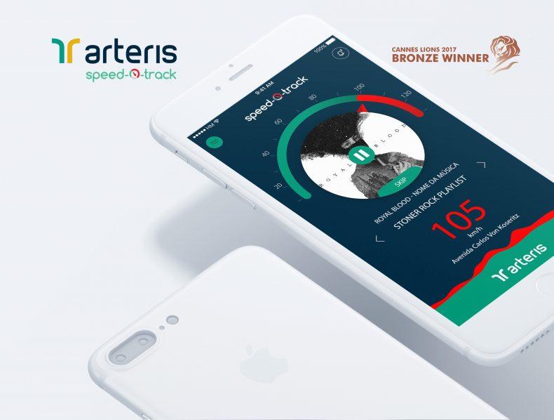 Arteris Speed-o-Track – UX/UI Direction – Cannes Lions Bronze