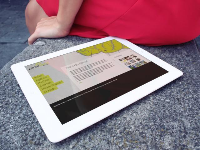 Penso Idéias – Website – Tablet Site – UI-UX