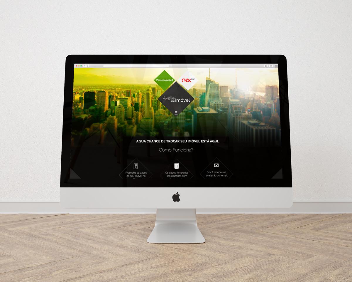 Pense Imóveis – Nexchange (real estate) – Website – UI/UX