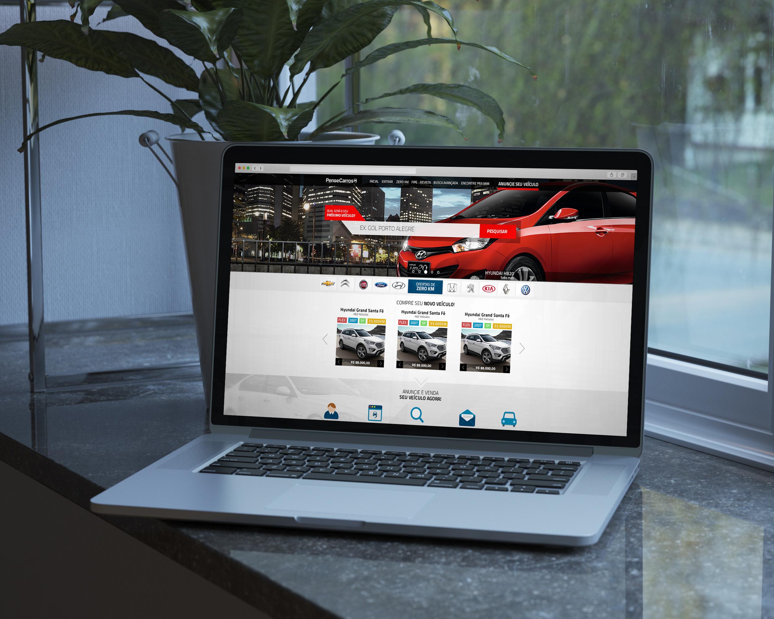 Pense Carros (car sales portal) – UI-UX