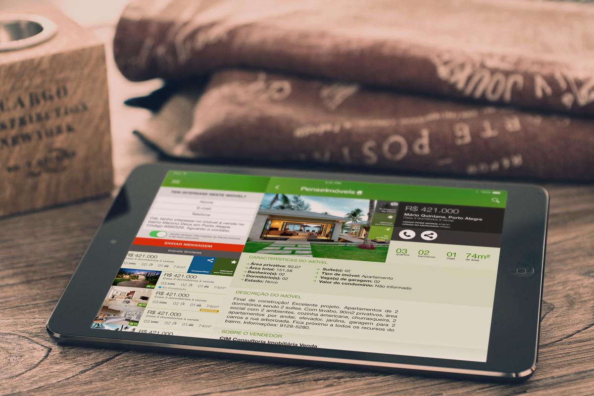 Pense Imóveis Ipad App – UI-UX