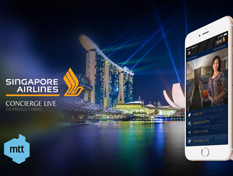Singapore Airlines App – Concierge Live – MTT Ireland