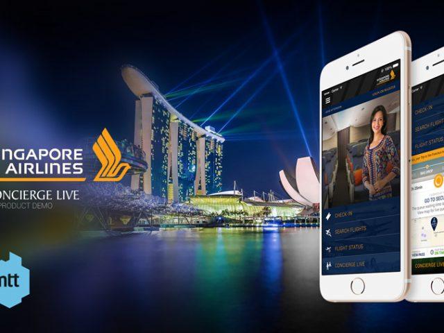 Singapore Airlines App – Concept for the Concierge Live – MTT Ireland