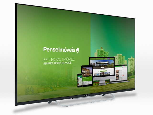 Chromecast Pense Imóveis UI-UX